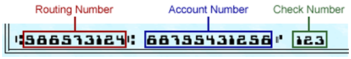 ACH Bank Routing Account Number